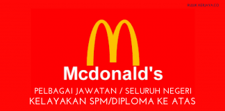 Jawatan Kosong McDonald's Malaysia