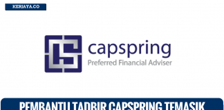 Pembantu Tadbir & HR di Capspring Temasik Financial Group