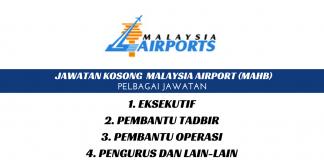 Jawatan Kosong Malaysia Airport (MAHB)