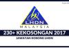 LHDN 2017 ~ 230+ Kekosongan Jawatan Ditawarkan Seluruh Negara