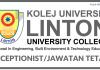 Receptionist di Kolej Universiti Linton