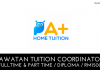 Tuition Coordinator A+ Home Tuition
