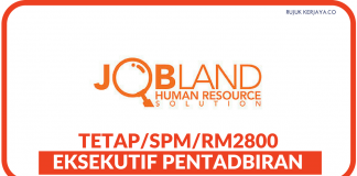 Eksekutif Pentadbiran di Jobland Human Resource Solution
