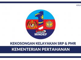 Kementerian Pertahanan ~ 135 Kekosongan Terkini