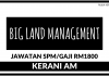 Kerani AM di Big Land Management