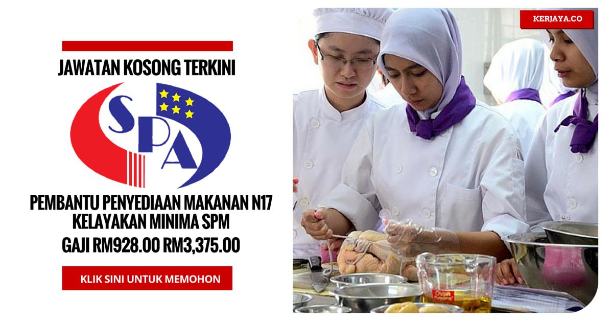Jawatan Kosong Terkini Pembantu Penyediaan Makanan Kkm Kerja Kerajaan Swasta