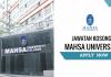 Jawatan Kosong MAHSA University