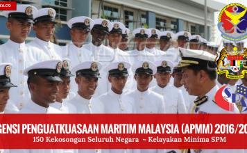 Jawatan Kosong Agensi Penguatkuasaan Maritim Malaysia (APMM) 2016%2F2017 (1)