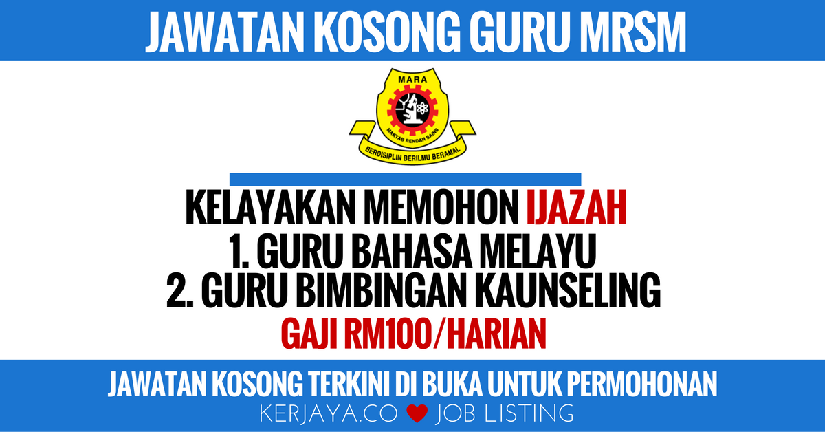 Jawatan Kosong Di Terengganu September 2018 Kerkosa