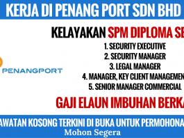 kerja penang port