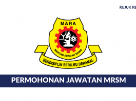 Permohonan Jawatan Kosong Maktab Rendah Sains Mara (MRSM) diBuka