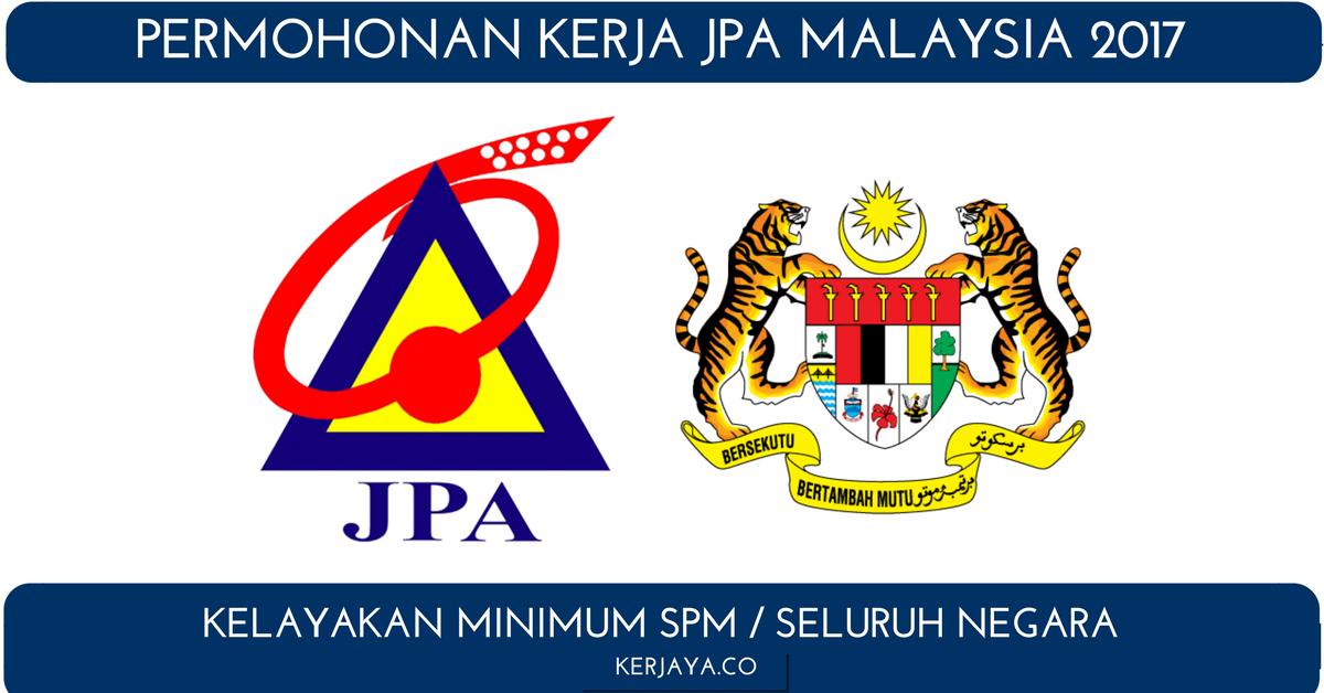 Iklan Jawatan Kosong Jabatan Perkhidmatan Awam Jpa Malaysia 1 Kerja Kosong Kerajaan