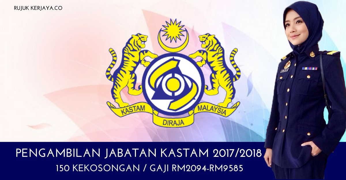 Jawatan Kosong Kastam Diraja Malaysia 1 Kerja Kosong Kerajaan