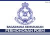 Permohonan Jawatan Kosong Polis Diraja Malaysia (PDRM)