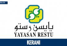 Kerani (Pentabiran/Pengeluaran) Yayasan RESTU