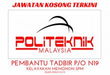 Jawatan Kosong Politeknik Ibrahim Sultan (PIS)