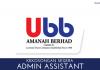 Admin Assistant UBB Amanah Berhad