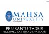 Pembantu Tadbir Mahsa University