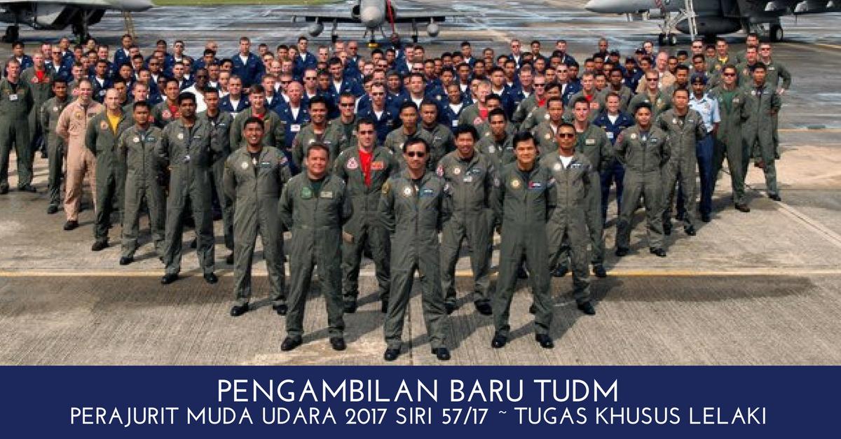 Pengambilan Perajurit Muda Udara 2017 Siri 57/17 ~ Tugas Khusus Lelaki