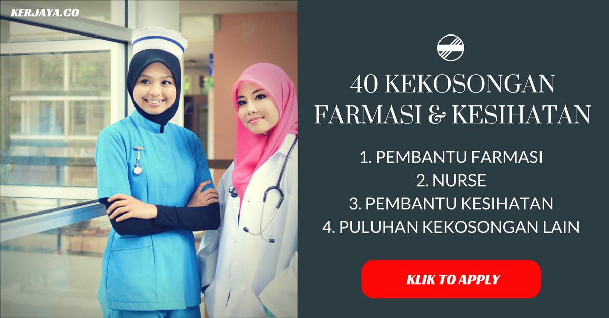 40 Kekosongan Jawatan Farmasi Kesihatan Pelbagai Kekosongan Kerja Kosong Kerajaan
