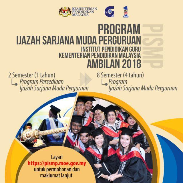 Iklan Permohonan Online Program Ijazah Sarjana Muda Perguruan (PISMP) 2018