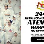 Atendan Hospital Kementerian Kesihatan Malaysia (KKM) ~ 2446 Kekosongan Permohonan Terbuka Pembantu Perawatan Kesihatan U11