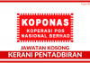 Kerani Pentadbiran Koperasi Pos Nasional Berhad (KOPONAS)