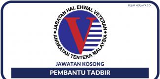 Pembantu Tadbir di JHEV (Jabatan Hal Ehwal Veteran ATM)