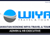 Admin & HR Executive Wiya Travel & Tour