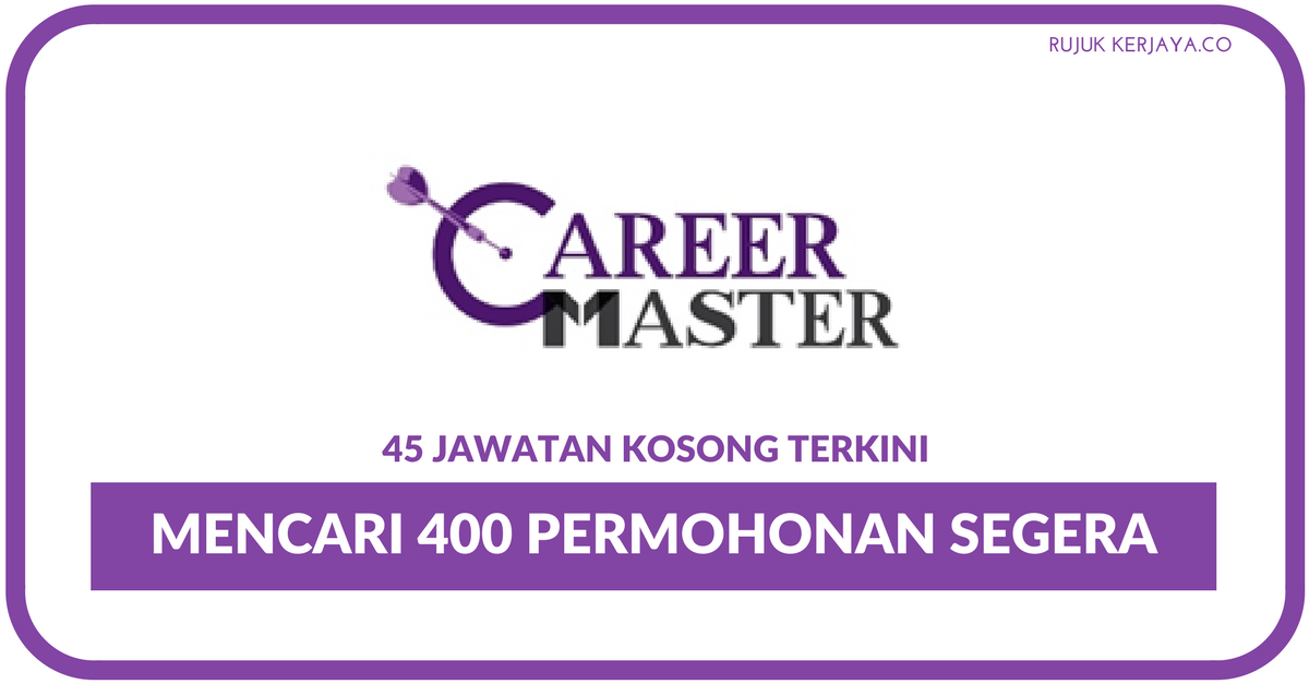 Career Master Kerja Kosong Kerajaan