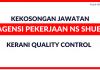 Kerani Quality Control di Agensi Pekerjaan NS Shue