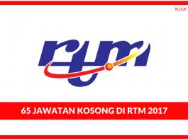 RTM (Jabatan Penyiaran Malaysia) - 40 Kekosongan Ambilan 2017 (Kelayakan SPM) (1)