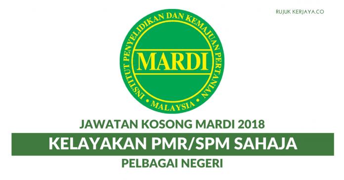 Permohonan Jawatan Kosong MARDI Khas Untuk Kelayakan SPM & PMR Pelbagai Negeri
