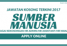 HR Admin & HR Assistant Seluruh Negara