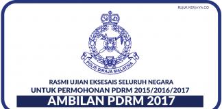 [RASMI] Ujian Eksesais Pengambilan PDRM 2017/2018