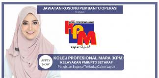 Pembantu Operasi N11 di Kolej Profesional MARA (KPM)
