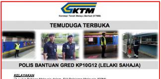 Temuduga Terbuka Polis Bantuan Gred KP10G12