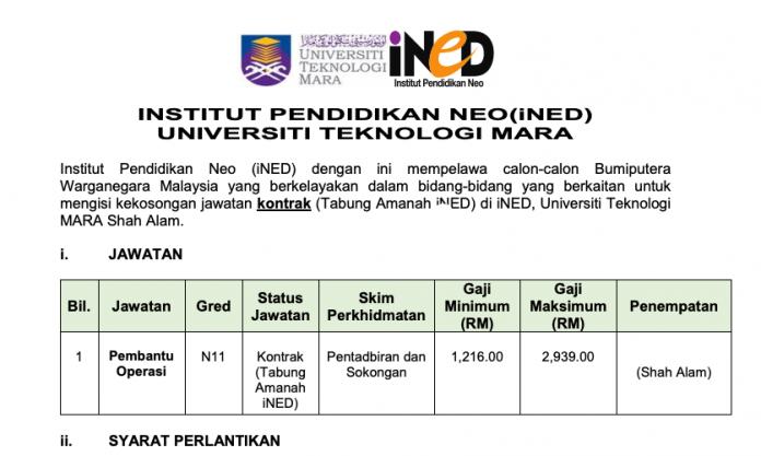 Institut Pendidikan Neo (iNED) UITM