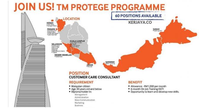 Telekom Malaysia / TM Protege - Jawatan Customer Care Consultant Seluruh Negeri