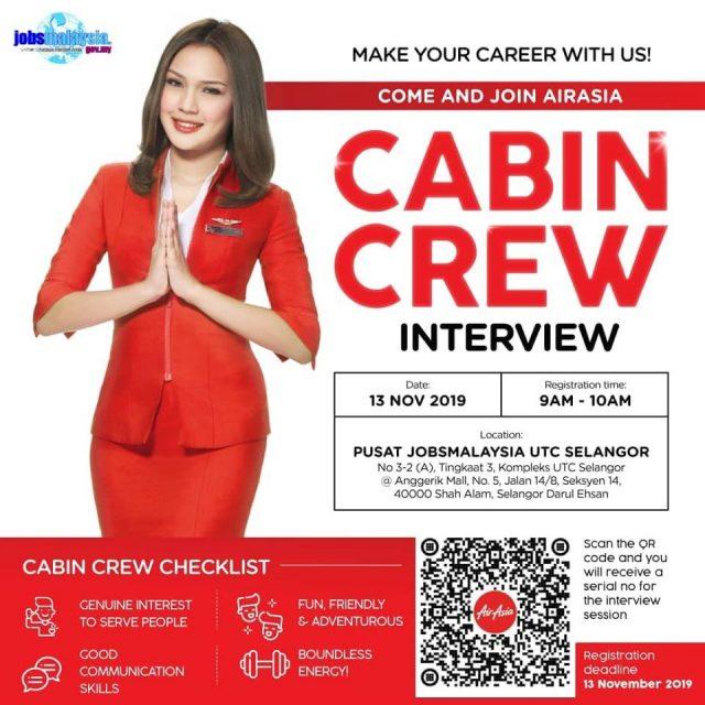 Iklan Temuduga Terbuka Cabin Crew Air Asia