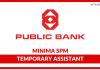 Temporary Assistant Public Mutual Berhad