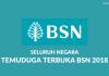 Temuduga Terbuka Bank Simpanan Nasional (BSN) Seluruh Negara 2018