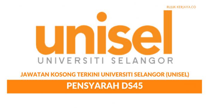Universiti Selangor (UNISEL) ~ Pensyarah DS45