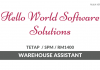 Hello World ~ Warehouse Assistant