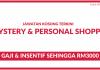 Mystery Shopper & Personal Shopper ~ Pelbagai Lokasi Gaji & Elaun Sehingga RM3500