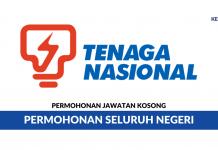 Permohonan Jawatan Kosong TNB Tenaga Nasional Berhad (TNB) di Buka