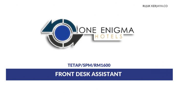 Front Desk Assistant Di One Enigma Hotel