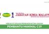 Pembantu Makmal C19 di Jabatan Kimia Malaysia