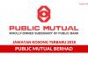 Public Mutual ~ Pelbagai Kekosongan Terbaru 2018