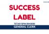 Success Label ~ General Clerk